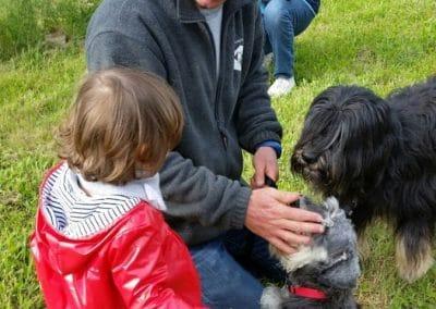 Atelier chien avec les enfants