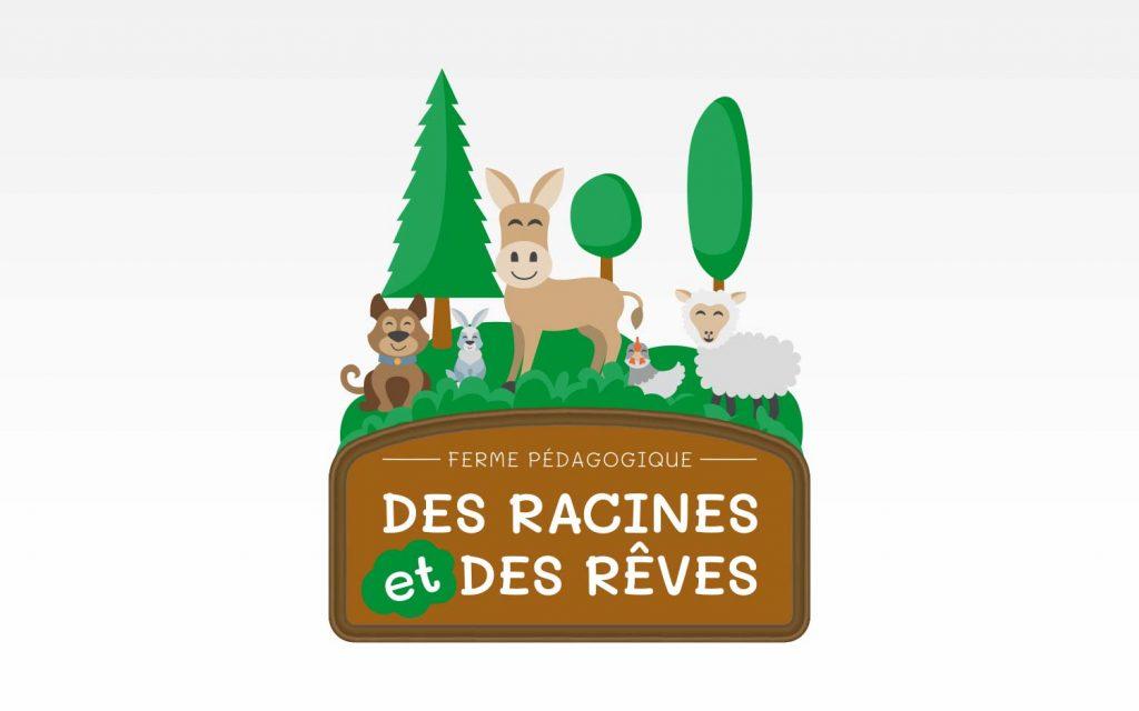 Logo de la ferme pédagogique en Loire-Atlantique : Des Racines et Des Rêves.